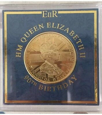 QUEEN ELIZABETH II 90th Birthday Commemorative Coin in Collectors Case - 2016