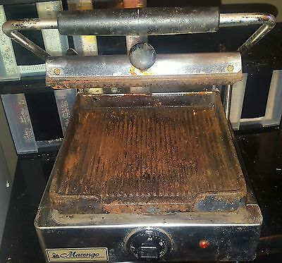 Marengo 4.2 Commercial Panini Press Sandwich NEEDS CLEANING WORKS GREAT