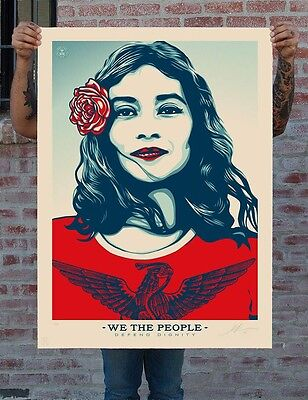 Shepard Fairey Obey • We The People • Defend • Sold Out Edition • Signed