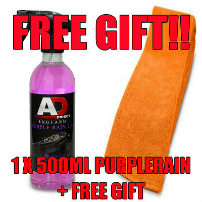 Autobrite Direct Purple Rain 500Ml Alloy Wheel Cleaner Iron Fallout + Free Gift!