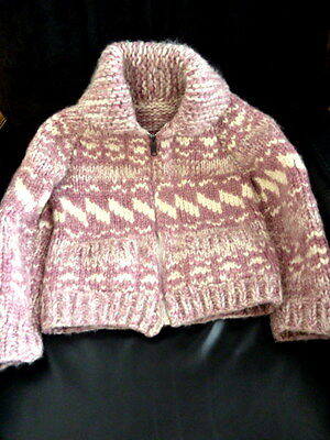 Vintage Handmade 100% Wool Cowichan Child's Sweater Spectacular!!