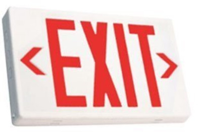 Ciata Lighting LED Exit Sign with Battery Backup, Red Letters