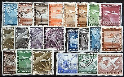Chile ex. Kat. 199-447 used Air Mail 1934/50