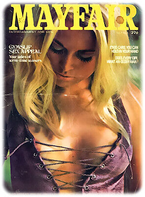 Vintage mens glamour  Magazines 9 x Mayfair issues on cd 1970's and 1980's