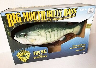 Big Mouth Billy Bass The Singing Sensation - New In Box
