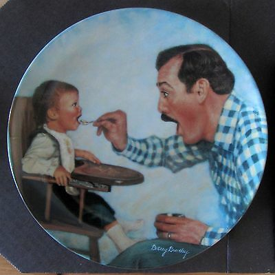 """""""OPEN WIDE"""" Betsey Bradley FATHER COLLECTOR Plate w/COA"""