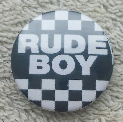 SKA BUTTON BADGE 2 Tone Music Reggae Logo Rude Boy Skinhead Beat Selecter Pin