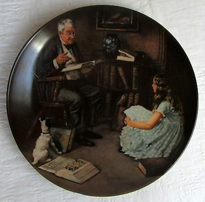 THE STORYTELLER Norman Rockwell Heritage Collect, Knowles Collectors Plate,COA