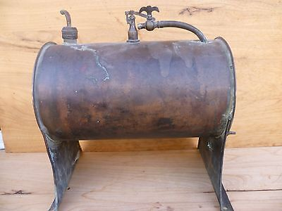 Antique Old Large Size Rare Auxiliary Copper Steam Engine 'water Tank' (A817)