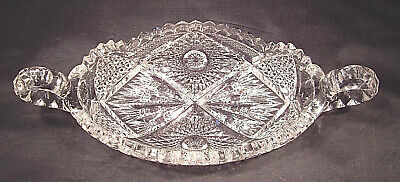 """EAPG """" Nucut """"  2 Handled Pickle Dish Made by Imperial  stamped in center"""