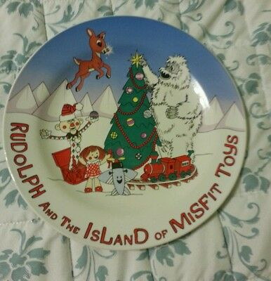 "Rudolph And The Island Of Misfit Toys Collectible Plate 8""  In box"