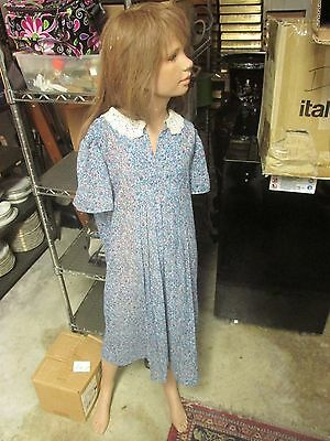 Vintage Wolf & Vine Child Girl Female Mannequin Glass Eyes Size 12 Slim Shoe 6C