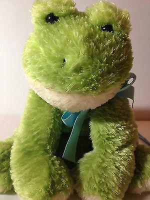 "12"" Mary Meyers Flip Flop Extremely Relaxed Frog Plush Soft Toy Stuffed Animal"