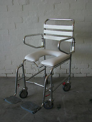 Commode Portable Wheeled Chair White - Kcare