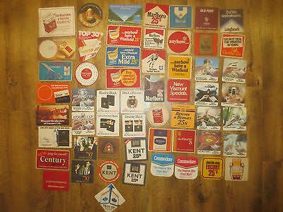 "56 Different TOBACCO / CIGARETTES Advertising collectable COASTERS ""NO MORE"""