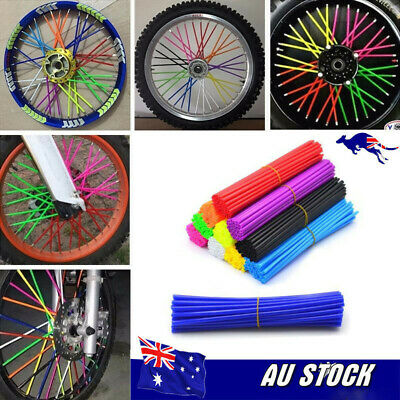 72Pcs spoke coats wheel cover wraps F Yamaha YZ450 YZ250 YZ125 WR450 WR250 PW50