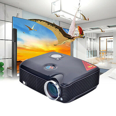 SALE New Home Theater 2600LMS Multimedia LCD LED Projector HD 1080P HDMI Movie