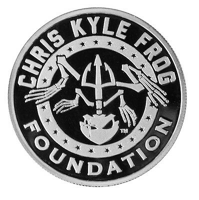 Chris Kyle Frog Foundation Commemorative American Flag 1 oz Silver Proof Round