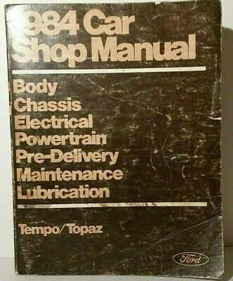 1990 ford tempo mercury topaz oem factory car shop service manual rh picclick com 1990 Ford Tempo GL Hooked Up 1985 Ford Tempo