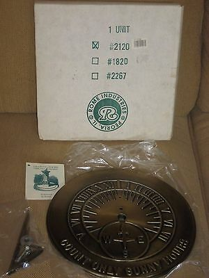 """NEW SUNDIALSolid Brass by Rome Industries #2120 COUNT ONLY SUNNY HOURS 10-1/2"""""""