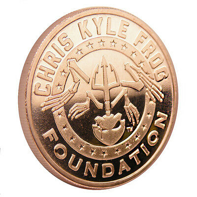 Chris Kyle Frog Foundation Commemorative Texas 1 oz .999 Copper BU Round US Coin