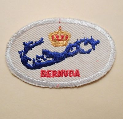 "Bermuda Patch - vintage travel souvenir  - 3 1/4"" x 2"""