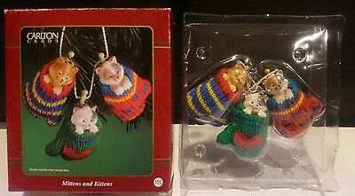 Carlton Cards Mittens And Kittens Ornament