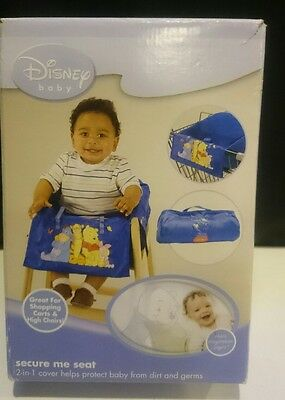 Disney Baby Secure Me Seat for Shopping Cart / High Chairs POOH BEAR & FRIENDS