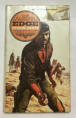 Edge Apache Death George G. Gilman Western New English Library Paperback 1972