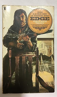 Edge Vengeance Valley No.17 George G.Gilman Western New English Library PB 1975