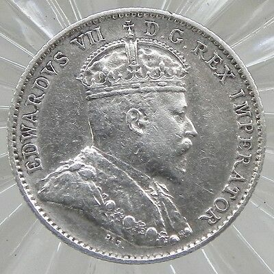 1910 Canadian 5 cent King Edward VII  92.5% Sterling Silver coin
