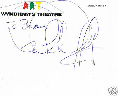 Patrick Duffy American Actor Dallas Hand Signed Card 6 x 4 Art Wyndham's Theatre
