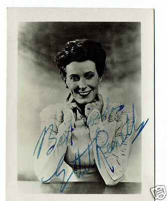 Ethel Revnell Film Actress Up with the Lark Hand Signed Vintage Photo 3 x 2