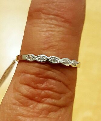 .925 Sterling Silver Ring size 1 CZ Kids Midi Ladies Baby Thumb Knuckle New x08