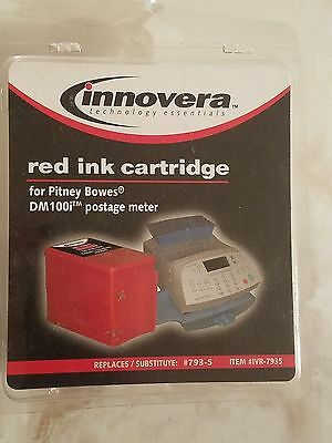 GENUINE NEW SEALED Innovera Pitney Bowes P700 Ink Cartridge - IVR7935 RED