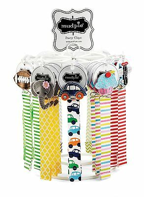 Mud Pie Baby Boy or Girl Felt Multi-Color Ribbon Pacy Pacifier Clips 178512