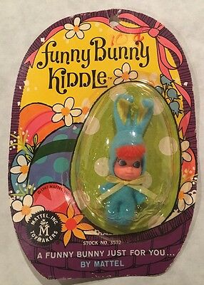 Funny Bunny Kiddle Blue Easter Doll By Mattel WOW Unopened Blister Pack