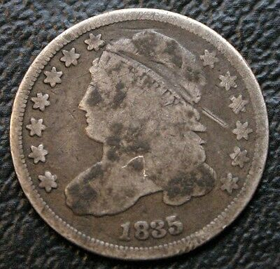 1835 10C Capped Bust Dime Nice Original Silver Coin