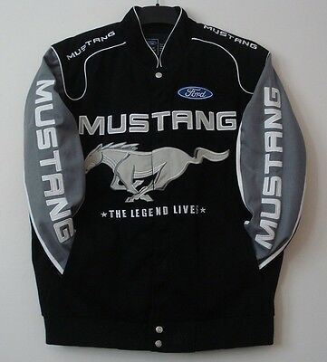 SIZE M  Authentic Mustang  Racing Cotton Jacket Black  JH DESIGN MD