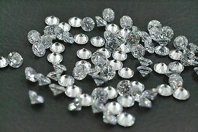 Cubic Zirconia  CZ  Brilliant Cut Rounds Loose Gemstone DIY for Jewelry 3mm