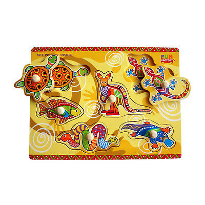 NEW Aboriginal Puzzle Learning  Educational Toy Kids Childrens Toys