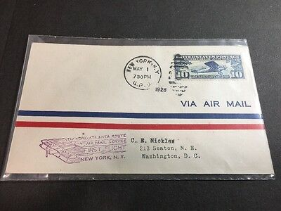 C10 LINDBERGH FIRST FLIGHT New York-Atlanta AIR MAIL 1928 C.E. Nickles -LOWSTART
