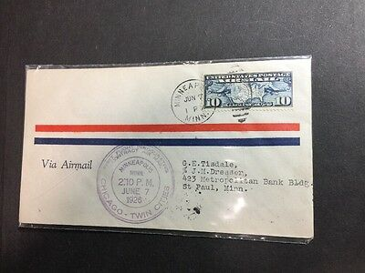 C7 FIRST FLIGHT Chicago-Twin Cities - AIR MAIL Minneapolis 1926 Cover - LOWSTART