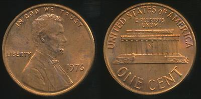 United States, 1976 One Cent, 1c, Lincoln Memorial - Uncirculated