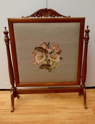 Lovely VINTAGE Timber TAPESTRY Fire SCREEN Fire PLACE Cover Adelaide