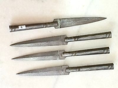 Lot of four  hand crafted hand forged  damascus spears