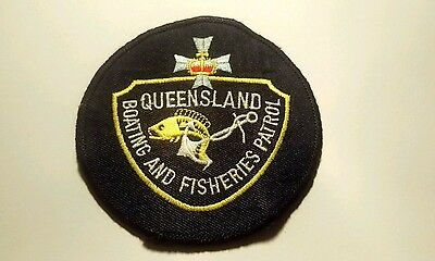 Obsolete Rare Queensland Boating Fisheries Patrol Patch / Badge