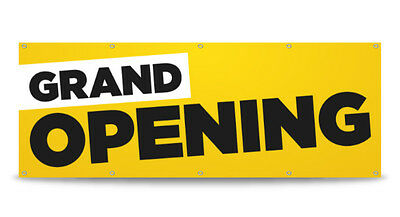 GRAND OPENING Banner Sign Print Business Outdoor Signage 13oz Vinyl