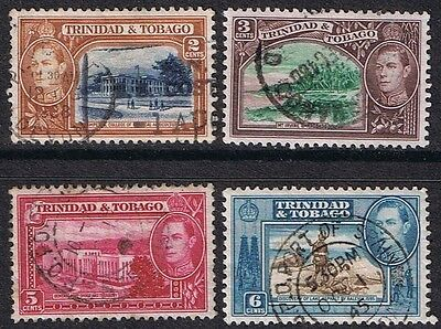 George VI  Trinidad & Tobago Used Stamps.