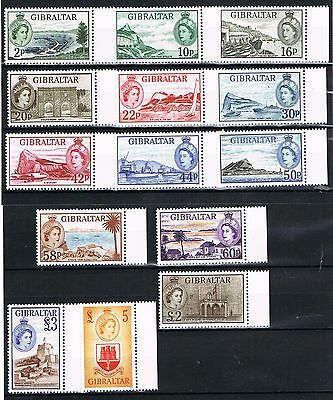 """Gibraltar - 2013 """" 60 Years 1st Stamp Definitive Of QE II 1953"""" Complete Set"""